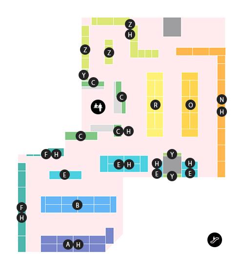 アストップラジオ会館店 フロアマップ