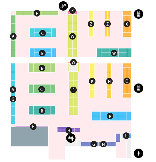 Akiba Culture's Zone Floor Map